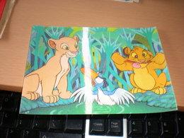3 D Postcards Simba Nala    Walt Disney Productions - Disney