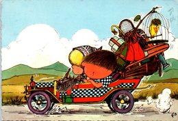 ILLUSTRATEUR  FIX - Chouchou Et Yéyé Partent En Vacances (automobiles) (pli Coin)( Oblitération BANVILLE Et Villiers Sur - Other Illustrators