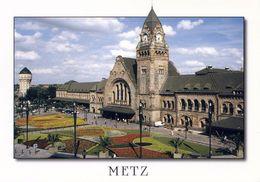 1 AK Frankreich * Der Bahnhof In Der Stadt Metz - Erbaut 1905 Bis 1908 * - Metz