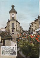 MEXIMIEUX - L'Hôtel De Ville Avec Timbre - Other Municipalities