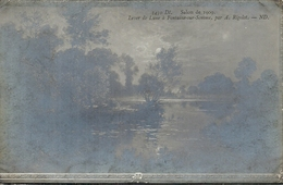 SOMME - 80 - FONTAINE SUR SOMME  Près De Ham - 53 Hab - Lever De Lune Par A Rigolot - Tableau - Ham