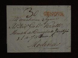 1814 Prefilatelica Genova - Modena - Veratti Giambattista E Bartolomeo, Romagnosi, Marchis - 1. ...-1850 Vorphilatelie