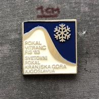 Badge Pin ZN006999 - Skiing Yugoslavia Slovenia Kranjska Gora (Kronau / Monte Cragnisca) World Cup Pokal Vitranc 1983 - Winter Sports