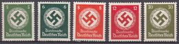 DEUTCHES REICH - 1934 - Cinque Valori Nuovi Senza Gomma: Yvert Servizio 95, 96, 97, 99 E 102, - Oficial