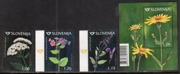 SLOVENIA , 2018, MNH, FLOWERS, MOUNTAIN FLORA,3v+S/SHEET - Plants