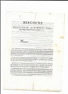 SEMUR COTE D'OR DISCOURS DE MOREAU PRESIDENT DU COLLEGE ELECTOORALJUILLET 1831 - Historical Documents