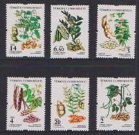 TURKEY, 2018, MNH, PLANTS, LEGUMES, BEANS, DEFINITIVES,6v - Plants