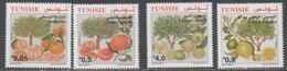 TUNISIA, 2017, MNH, CITRUS FRUIT, ORANGES, LIMES, MANDARINS, LEMONS,4v - Fruits
