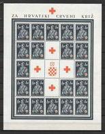 Croazia (indipendente) 1941 Pro Croce Rossa. Costumi Regionali. Serie Completa Nuova/mnh** In Minifogli - Croazia