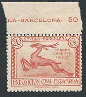 ESPAGNE SPANIEN SPAIN ESPAÑA 1929 - Timbre Pour Lettre Expres YT N°4 - EDIFIL N°447 - 20 C. Orange Naranja - NEUF**  TTB - 1889-1931 Kingdom: Alphonse XIII