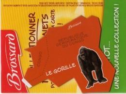 MAGNETS..PUBLICITEE  BROSSARD  SAVANE...AFRIQUE....LE GORILLE... - Non Classés