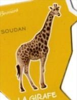 MAGNETS   PUBLICITEE BROSSARD   SAVANNE     LA GIRAFE - Animals & Fauna