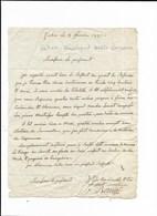 FABAS SARMOUILLAN LETTRE DE 1821 - Historical Documents