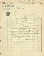 Facture Lettre 1907 / ALGERIE / AIN-BESSEM / I. MOMBEL / Maréchalerie, Charron, Forgeron - Facturen & Commerciële Documenten
