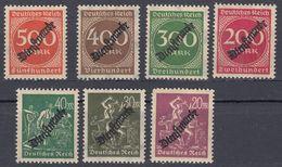 DEUTCHES REICH - 1923 - Sette Valori Nuovi MNH: Yvert Servizio 48/54, Come Da Immagine. - Service