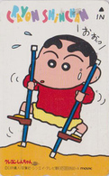 Télécarte Japon / 110-011 - MANGA - CRAYON SHIN-CHAN - Echasse Echasses - ANIME Comics Japan Phonecard - MOVIC - 10358 - Stripverhalen