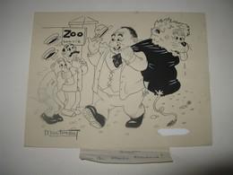 "BEAU DESSIN ORIGINAL SIGNE MARTINEAU DIT ""ALDE"" 1943 PETAIN HUMOUR MAINE STYLE ALBERT DUBOUT - Dibujos Originales"