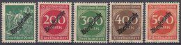 DEUTCHES REICH - 1923 - Cinque Valori Nuovi MNH: Yvert Servizio 50/54, Come Da Immagine. - Oficial
