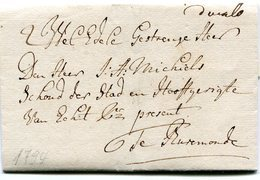 PAYS-BAS - Brief Nach Burmond 1794 - Von G. Poell Für Den Edelmann A. Michiels - ...-1852 Voorlopers