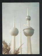 Kuwait Airways Airline Postcard Tourism Towers Picture View Card - Kuwait