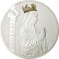 France, Médaille, Lourdes, FDC, Cuivre Plaqué Argent - France
