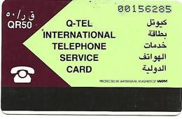 @+ TC Du Quatar - First Issue - Maroon & Pale Green QR50 - Ref : QA-QTL-AUT-0004 - Qatar