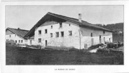 La Maison Du Diable Jura Neuchâtel ? Tirage D'imprimerie De L'époque -(papier ~19 X 10 Cm) - Reproductions