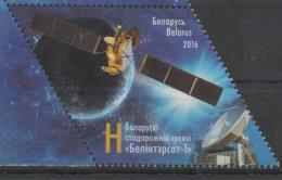 BELARUS, 2016, MNH, COMMUNICATIONS, SATELLITES, 1v - Telecom