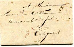 Luxembourg - Lettre Préphilatélie De Luxembourg Vers Cologne  1831 à Jean-Marie Farina  Eau De Cologne - Luxembourg