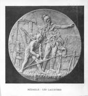 Médaille Lacustre Neuchâtel - Tirage D'imprimerie De L'époque -(papier ~9.5 X 9.5 Cm) - Reproductions