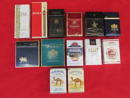 TOBACCO CIGARETTES CARDBOARD BOXES  EMPTY  LOT 13 PCS - Contenitori Di Tabacco (vuoti)