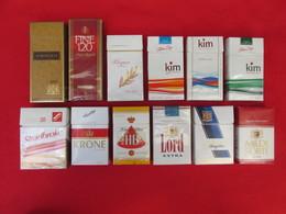 TOBACCO CIGARETTES CARDBOARD BOXES  EMPTY  LOT 12 PCS - Contenitori Di Tabacco (vuoti)