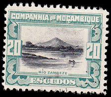 Mozambique Company Scott #161, 20¢ Green & Black (1925) Zambezi River, Used - Mozambique