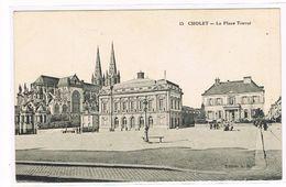 CPA. Cholet. La Place Travot.     (667) - Cholet