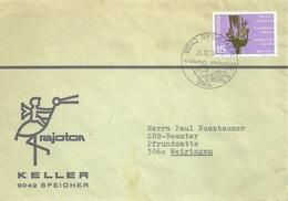 """Motiv Brief  """"Rajoton, Keller, Speicher""""         1974 - Suisse"""