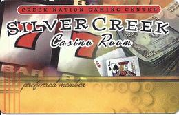 Creek Nation Silver Creek Casino Room - Oklahoma USA - BLANK Slot Card - Casino Cards