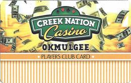 Creek Nation Casino - Okmulgee, OK - BLANK Slot Card - Casino Cards