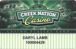 Creek Nation Casino - Okmulgee & Muscogee, OK - Slot Card - Casino Cards