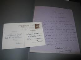 2 LETTRES AUTOGRAPHES SIGNEES DE FERNAND GREGH 1927-42 POETE ROMANCIER ACADEMIE PROUST à MONTHERLANT - Autographs