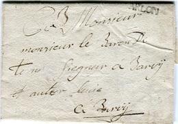 Belgique - Lettre Préphilatélie 1787 - ARLON - Pour Le Baron De Tornaco? Seigneur à Barvy? Et Autres Lieus (voir SCAN) - 1714-1794 (Pays-Bas Autrichiens)