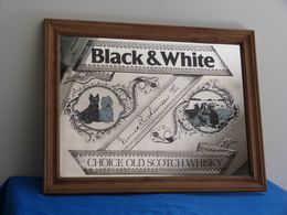 """Miroir """"BLACK & WHITE"""" Whisky - Miroirs"""