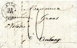 Luxembourg - Lettre Préphilatélie 1833 - Pour Le Notaire Grass à Aubange Avec Cachet EICH - Luxembourg