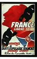 Militaria WW2 -  Photo Affiche - France Libère-toi - Adhérez Au Parti Populaire Français Jacques Doriot- - 1939-45