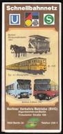 Germany Berlin 1987 / U, S Bahn / Metro / Subway / Trains / Railway / Plan - Europe