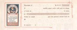 Ordre De Paiement - Montbaron Gautschi Et Cie - Vierge - Neuchâtel (dimensions 26 X 12 Cm) - Switzerland