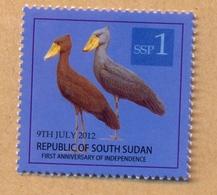 SOUTH SUDAN  Surcharge Overprint Unadopted Printing Trial On 1 SSP Birds Stamps Südsudan Soudan Du Sud - Zuid-Soedan
