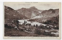 (RECTO / VERSO) CASTELLANE - N° 1410 - VALLEE DU VERDON - VUE PRISE DE LA CHAUDANNE - CPA - Castellane