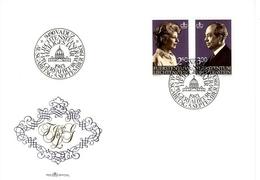 LIECHTENSTEIN MI-NR. 828-829 FDC FÜRSTIN GINA UND FÜRST FRANZ JOSEF II. 1983 - FDC