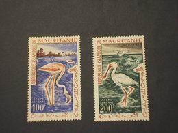 MAURITANIE - P.A. 1961 UCCELLI  100 F. - 200 F. - NUOVO(++) - Mauritania (1960-...)