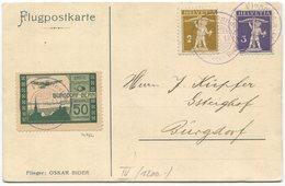 1954 - Pionierflug Von BURGDORF Am 30. März 1913 Auf Offizieller Flugpostkarte / Flieger: OSKAR BIDER - Premiers Vols